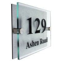 FANCY MODERN HOUSE SIGN PLAQUE DOOR NUMBER STREET type 2 - 1-3 days delivery