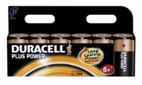 Duracell MN1300 Plus Power Alkaline D Size Batteries (Pack of 6)